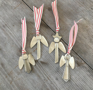 Artisan Angel Ornament - Upcycled Silverware Pieces - #4546