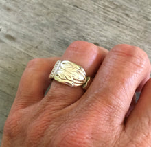 Spoon Ring Size 7 shown on Model