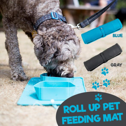 FUSION PET SUPPLIES ROLL UP PET FEEDING BOWLS