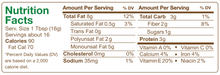 Creamy Almond Butter Nutrition Facts