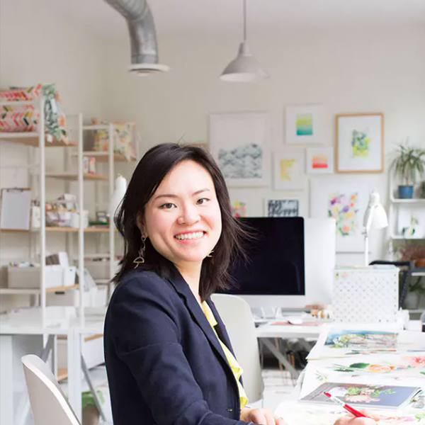 Yao Cheng in her design studio