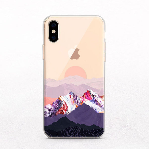 Mountain Sunset iPhone case from Onesweetorange