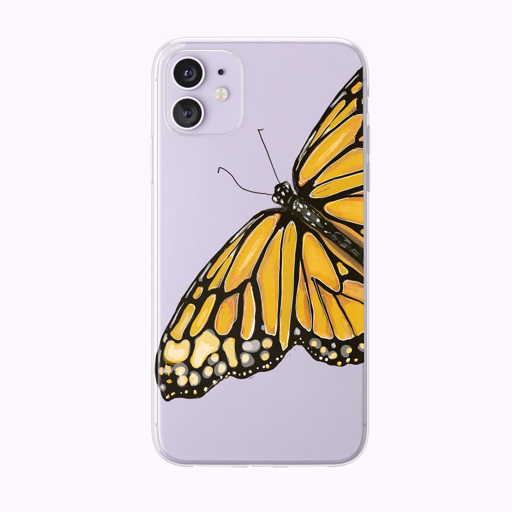Orange Watercolor Butterfly iPhone Case by Tiny Quail