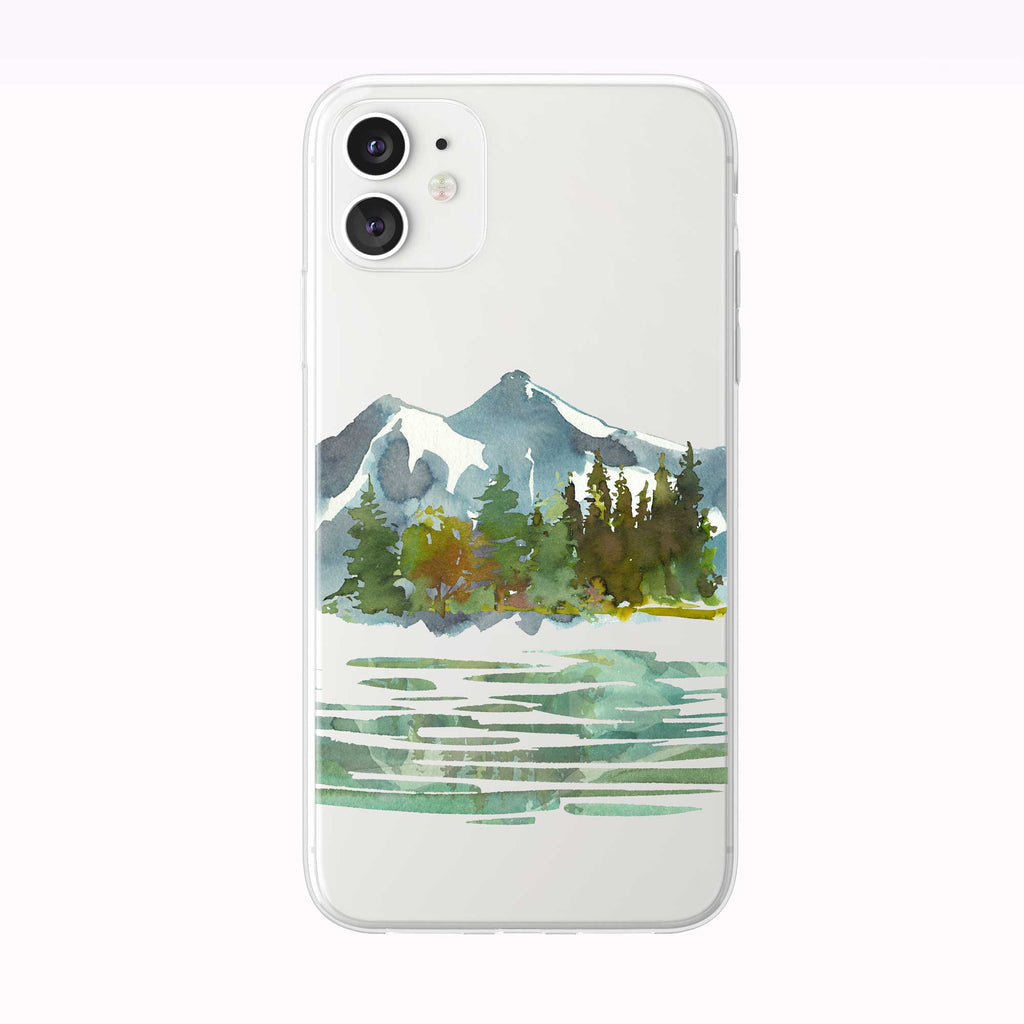 Reflective Mountain Lake iPhone Case from Tiny Quail