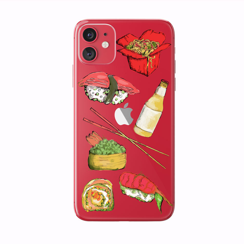 Colorful Sushi and Noodle Lover iPhone Case from Tiny Quail