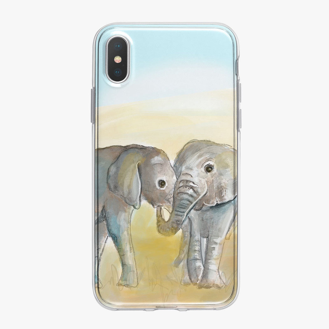 Two Elephants Designer iPhone Case