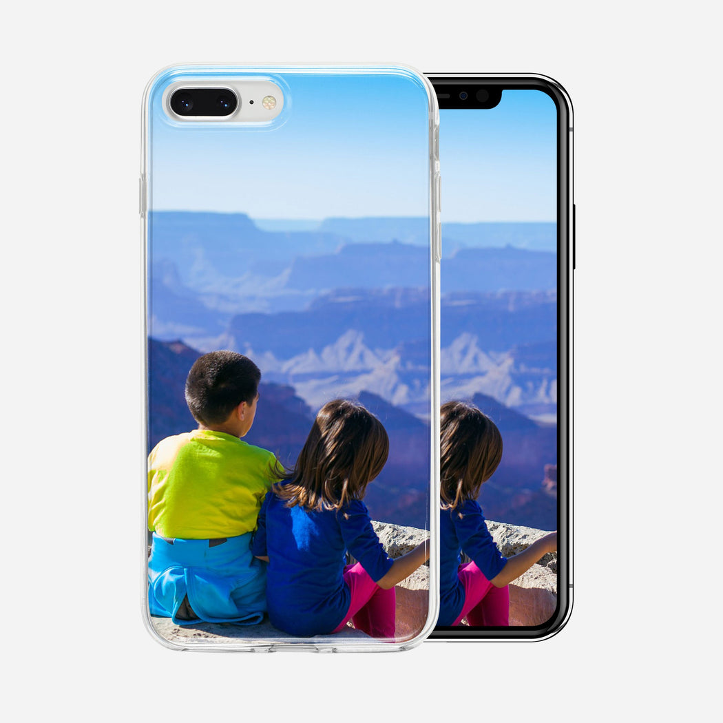 Children on mountain, iPhone 7/8 plus Custom Phone Case From Tiny Quail