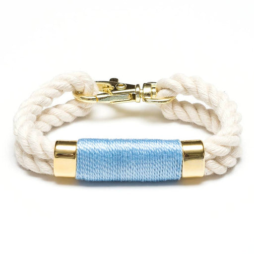 Tremont Bracelet For Women, Ivory/Light Blue/Gold, by Allison Cole Jewelry