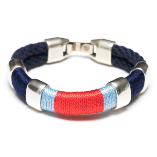 Newbury Bracelet For Women, Navy/Navy/Blue/Coral/Silver by Allison Cole Jewelry