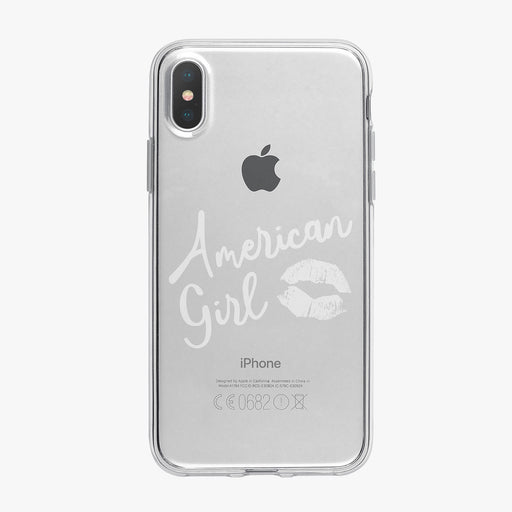 American Girl White Kiss Clear iPhone Case by Tiny Quail
