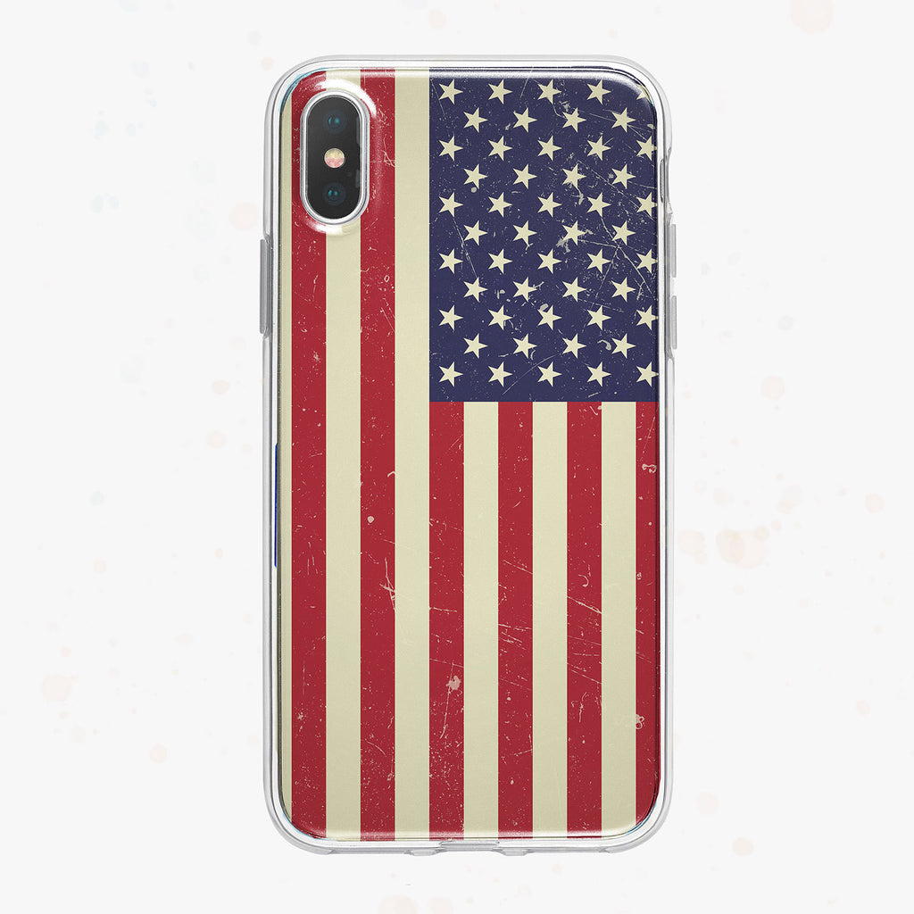 American Flag iPhone Case by Tiny Quail