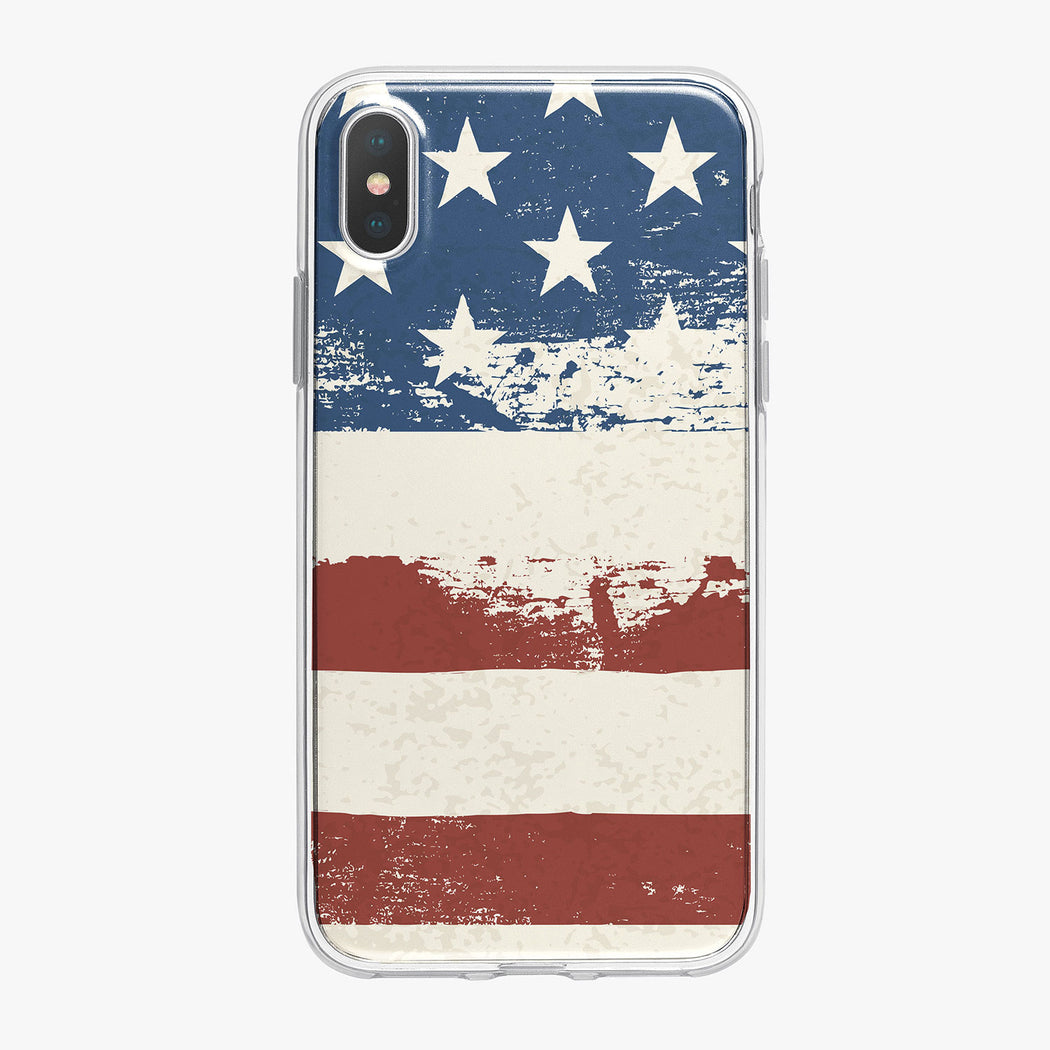 Graphic American Flag iPhone Case by Tiny Quail