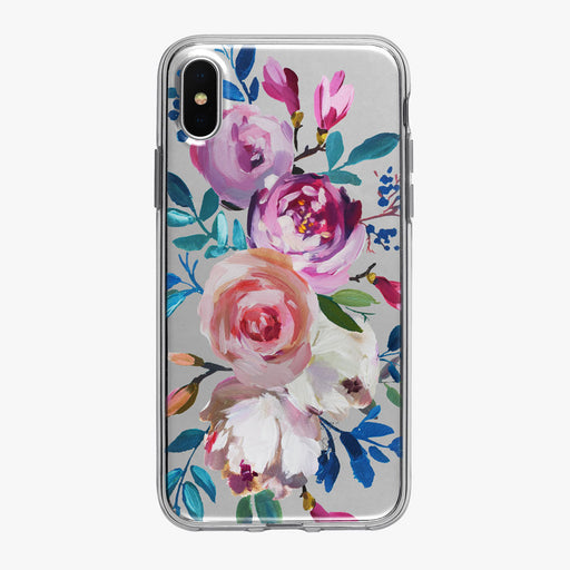 Artistic Colorful Floral Bouquet iPhone Case from Tiny Quail