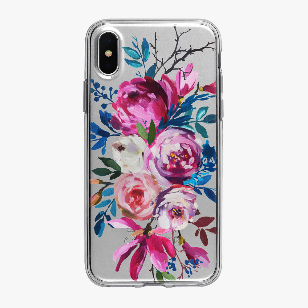 Artistic Beautiful Floral Bouquet iPhone Case from Tiny Quail