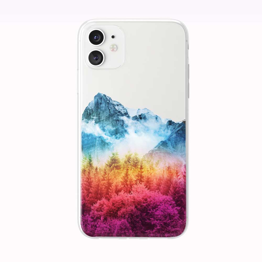 Autumn Mountain Forest iPhone Case from Tiny Quail
