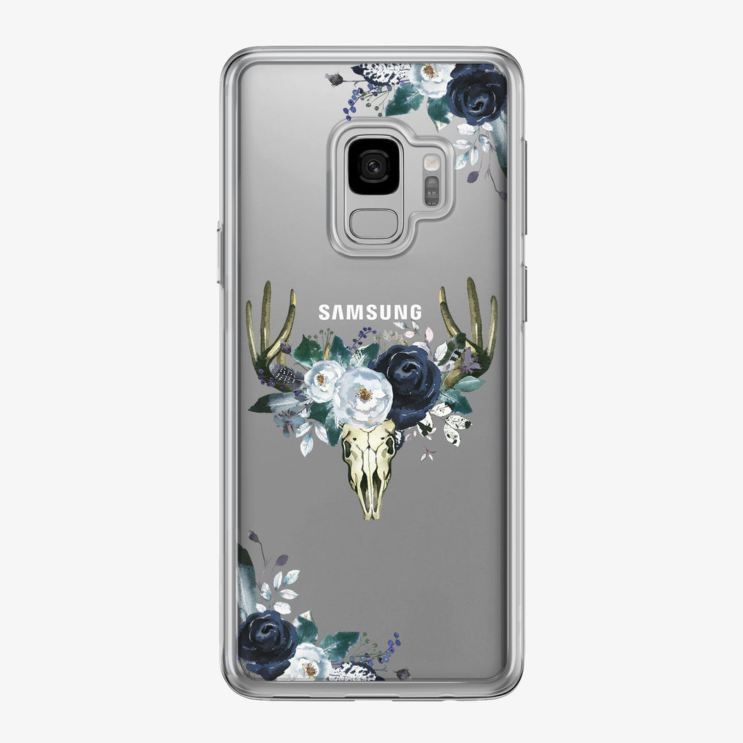 Boho Steer Skull Clear Samsung Galaxy Phone Case from Tiny Quail