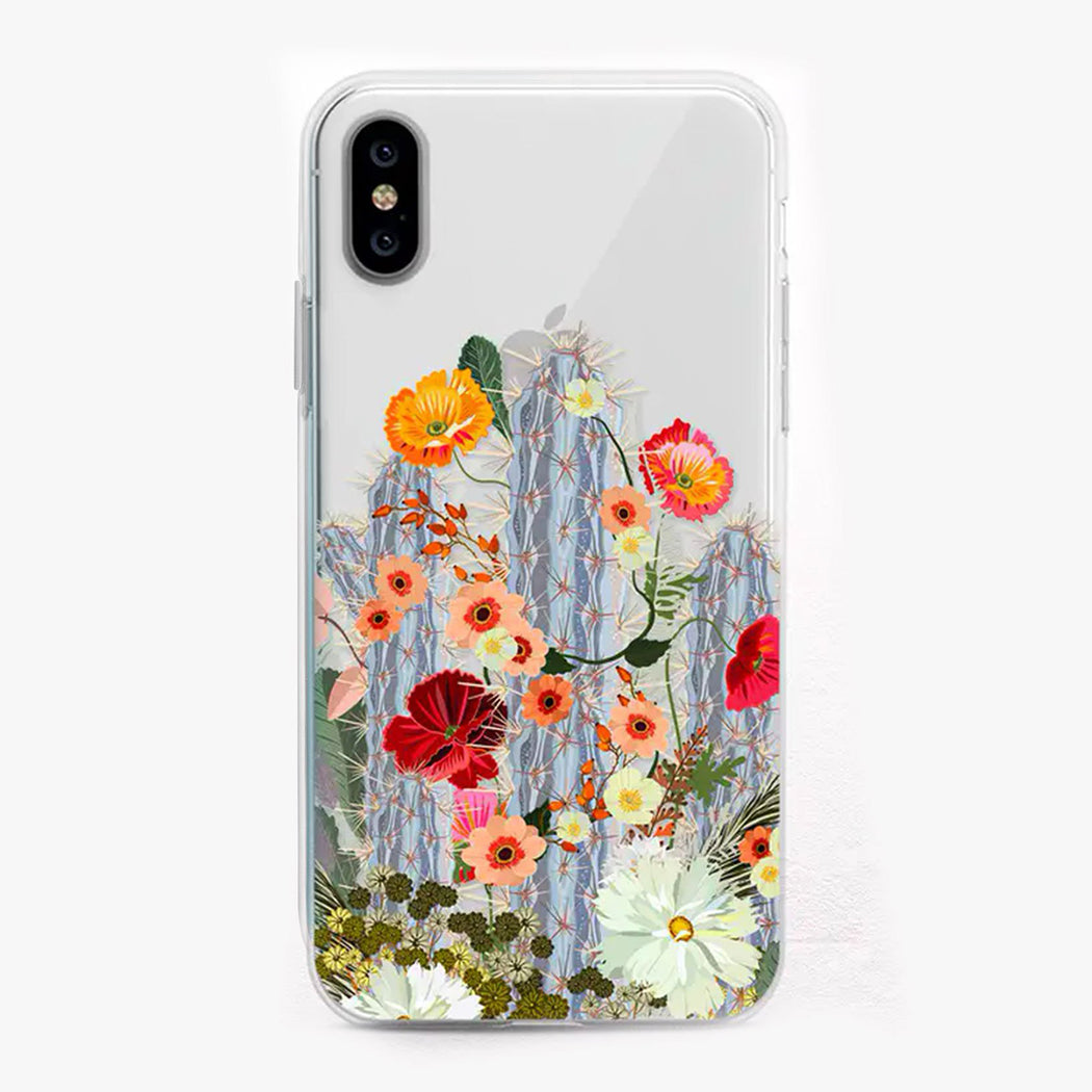 Cacti Bloom Designer iPhone Case by Onesweetorange