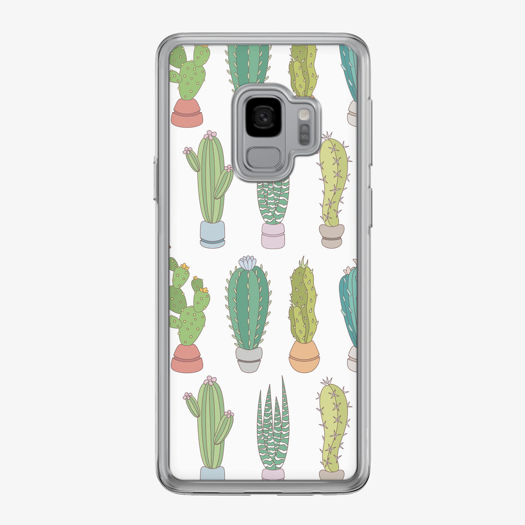 Colorful Small Cactus Pattern Samsung Galaxy Phone Case by Tiny Quail