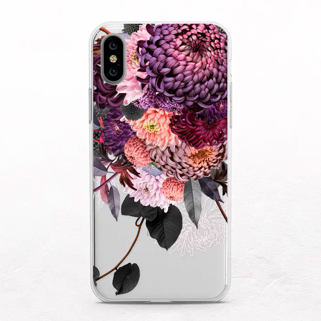 Chrysanthemums Floral Designer iPhone Case by Onesweetorange