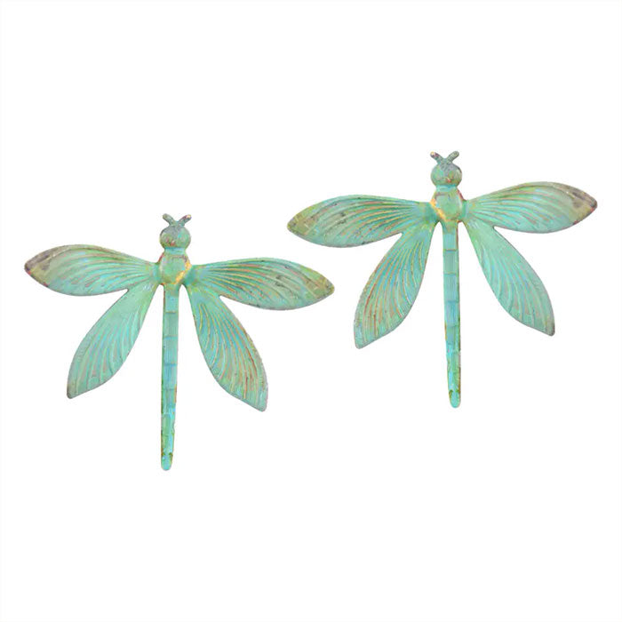 Verdigris Dragonfly Stud Earrings By We Dream in Colour
