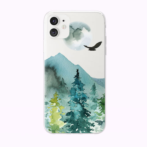 Evening Mountain Forest iPhone Case from Tiny Quail