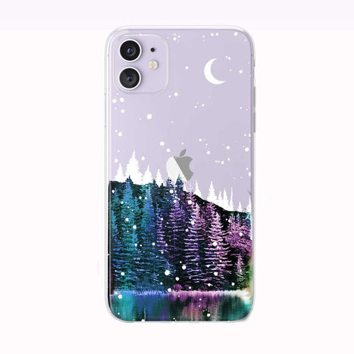 First Forest Night Snow iPhone Case from Tiny Quail