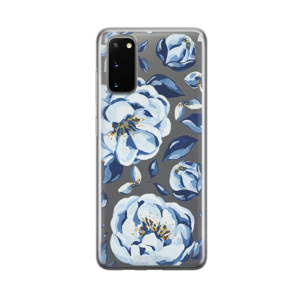 Blue Floral Samsung Galaxy Phone Case from Tiny Quail