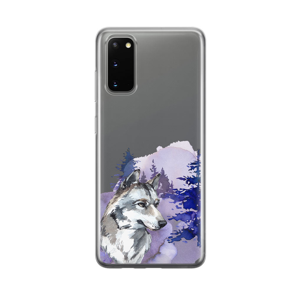 Handsome Wolf Samsung Galaxy Phone Case from Tiny Quail