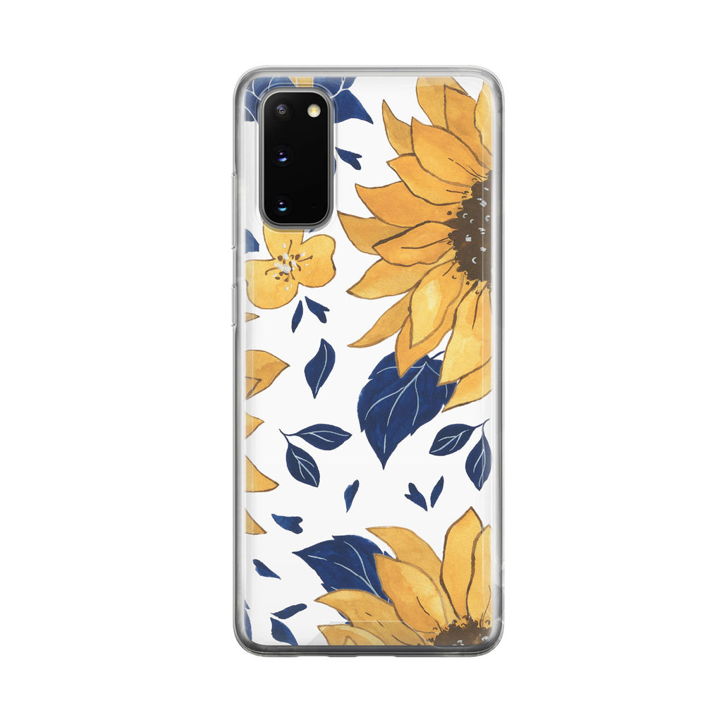 Illustrated Sunflower Samsung Galaxy Phone Case from Tiny Quail