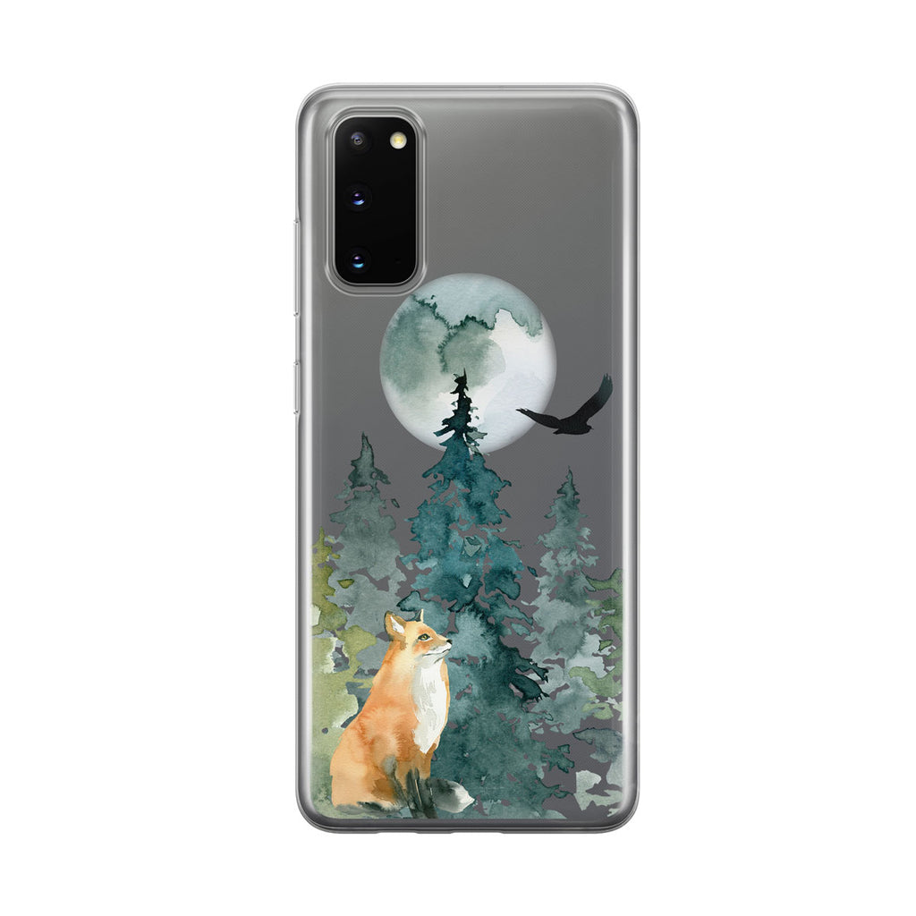 Cute Forest Fox Samsung Galaxy Phone Case from Tiny Quail