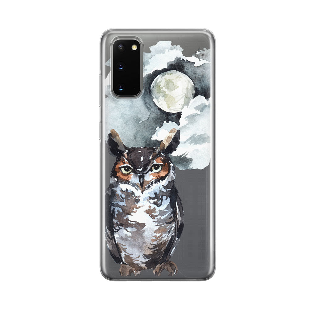 Nighttime Owl Samsung Galaxy Phone Case from Tiny Quail