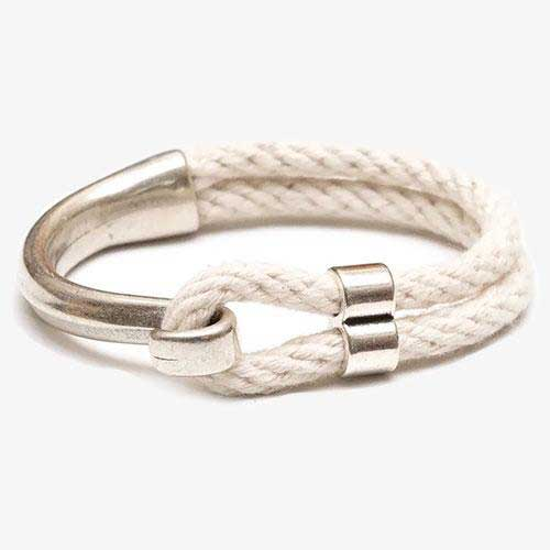 Hampstead Bracelet For Women, Ivory and Silver by Allison Cole Jewelry