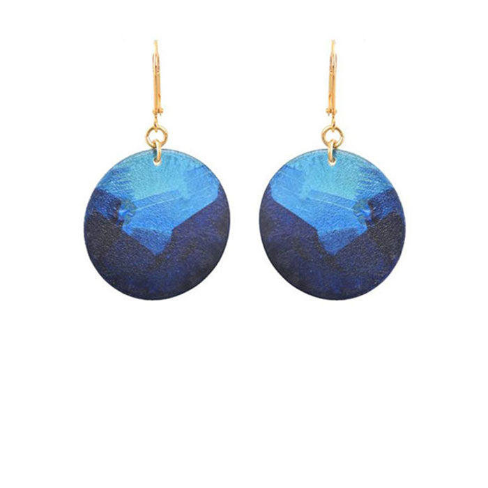 Little Lazuli Round Earrings By We Dream in Colour