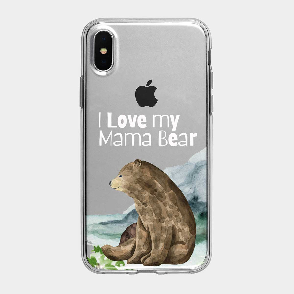 Love My Mama Bear iPhone Case from Tiny Quail