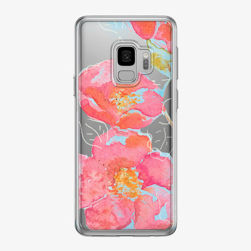 Floral Watercolor Clear Samsung Galaxy Phone Case by Tiny Quail