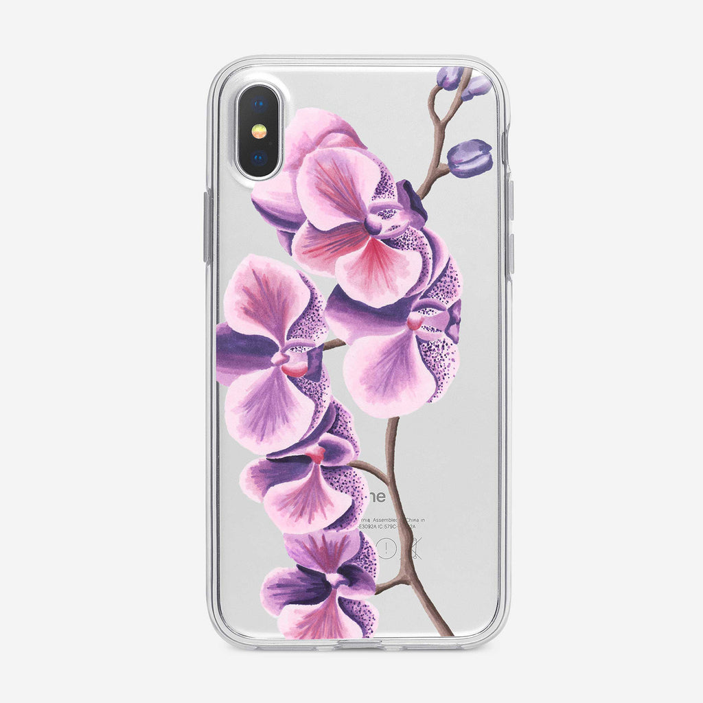 Purple and Pink Orchids iPhone Case from Tiny Quail