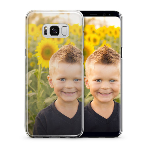 Boy with Sunflowers Galaxy S8+ Custom Phone Case From Tiny Quail