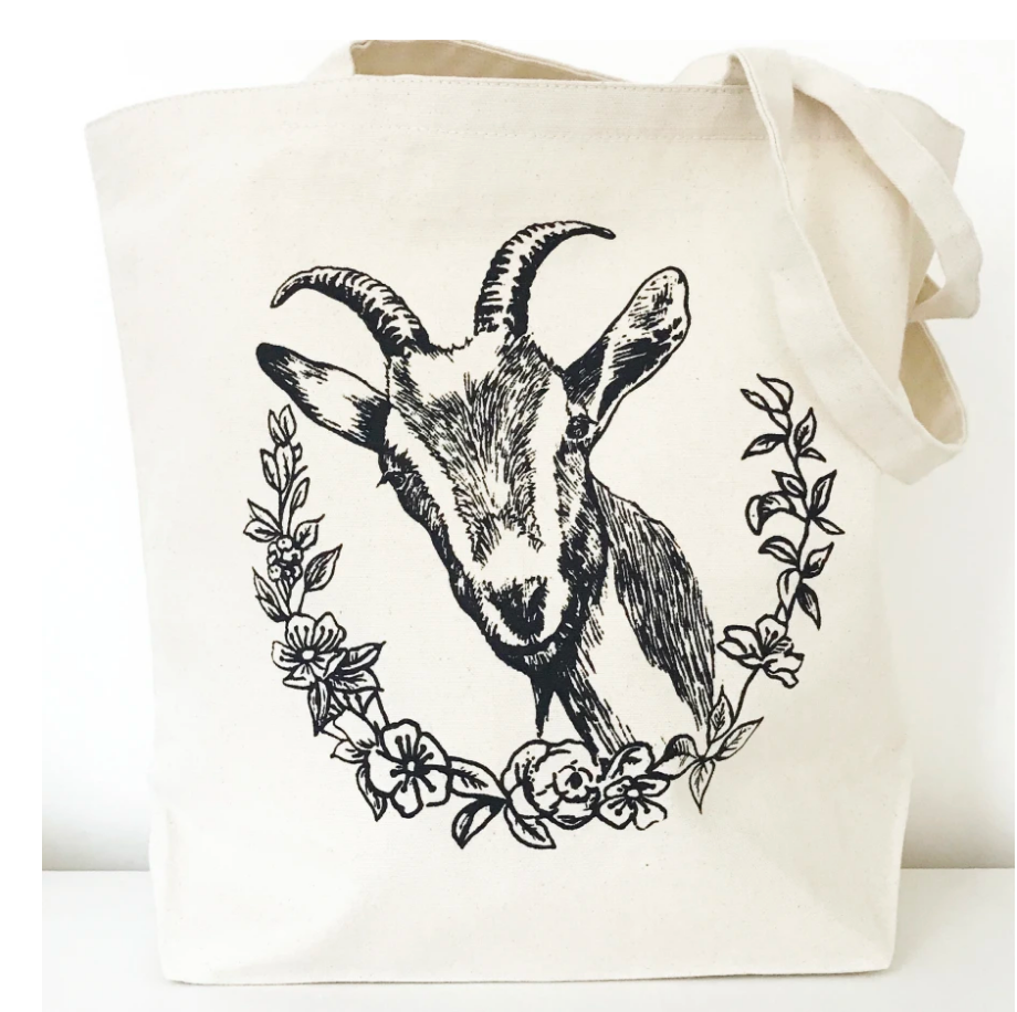 Goat Farmer's Market Canvas Tote From The Coin Laundry