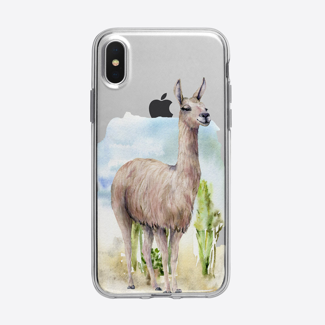 Serene Desert Llama iPhone Case from Tiny Quail