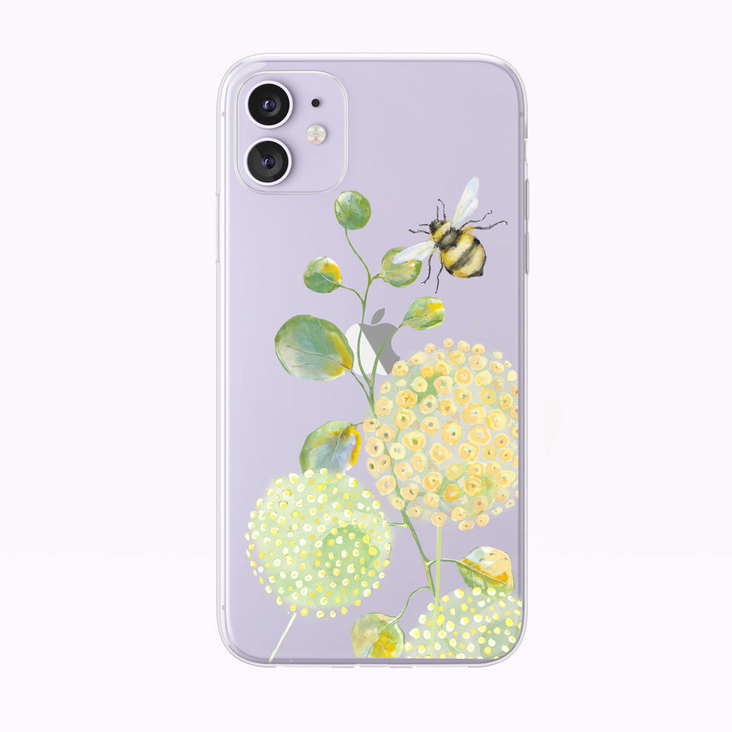 A Bee's Life Watercolor Clear iPhone Case by Tiny Quail