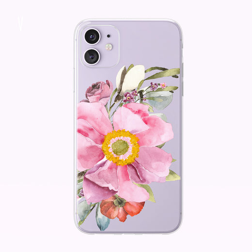 Wild Rose Forest Floral Clear iPhone Case from Tiny Quail