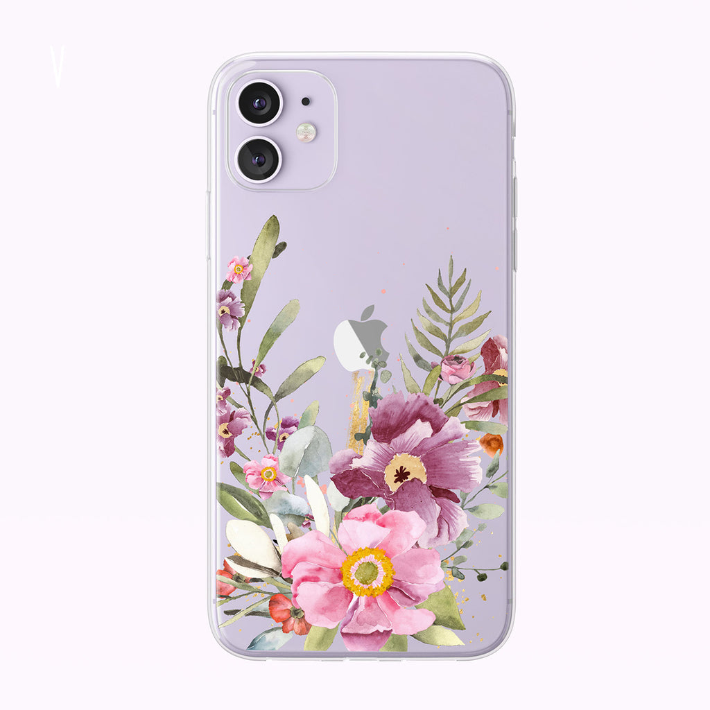 Beautiful Summer Forest Bouquet Clear iPhone Case from Tiny Quail