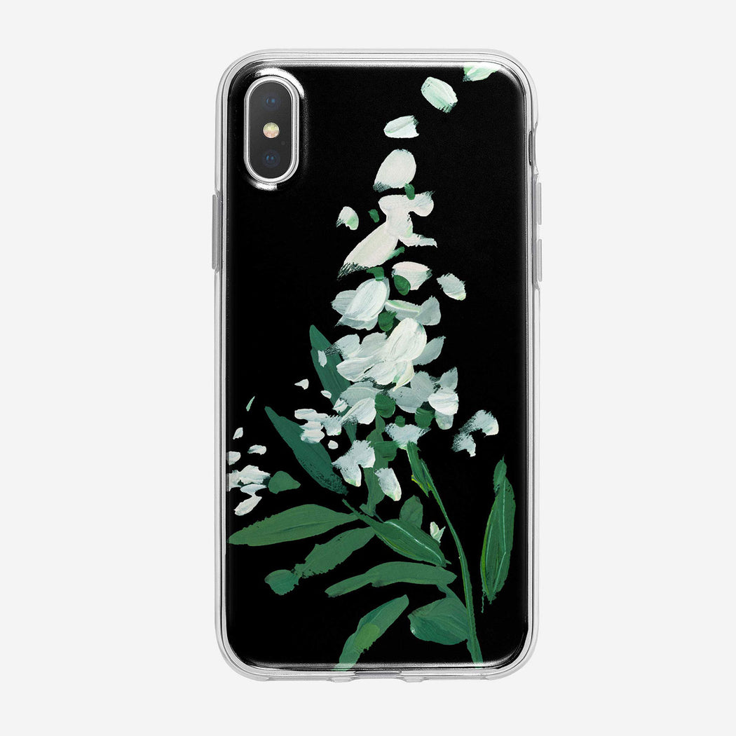 Canvas White Lilac Noir iPhone Case by Tiny Quail