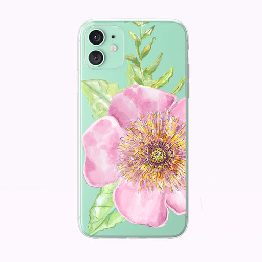 Wild Rose Forest Floral Clear iPhone Case from Tiny Quail by green