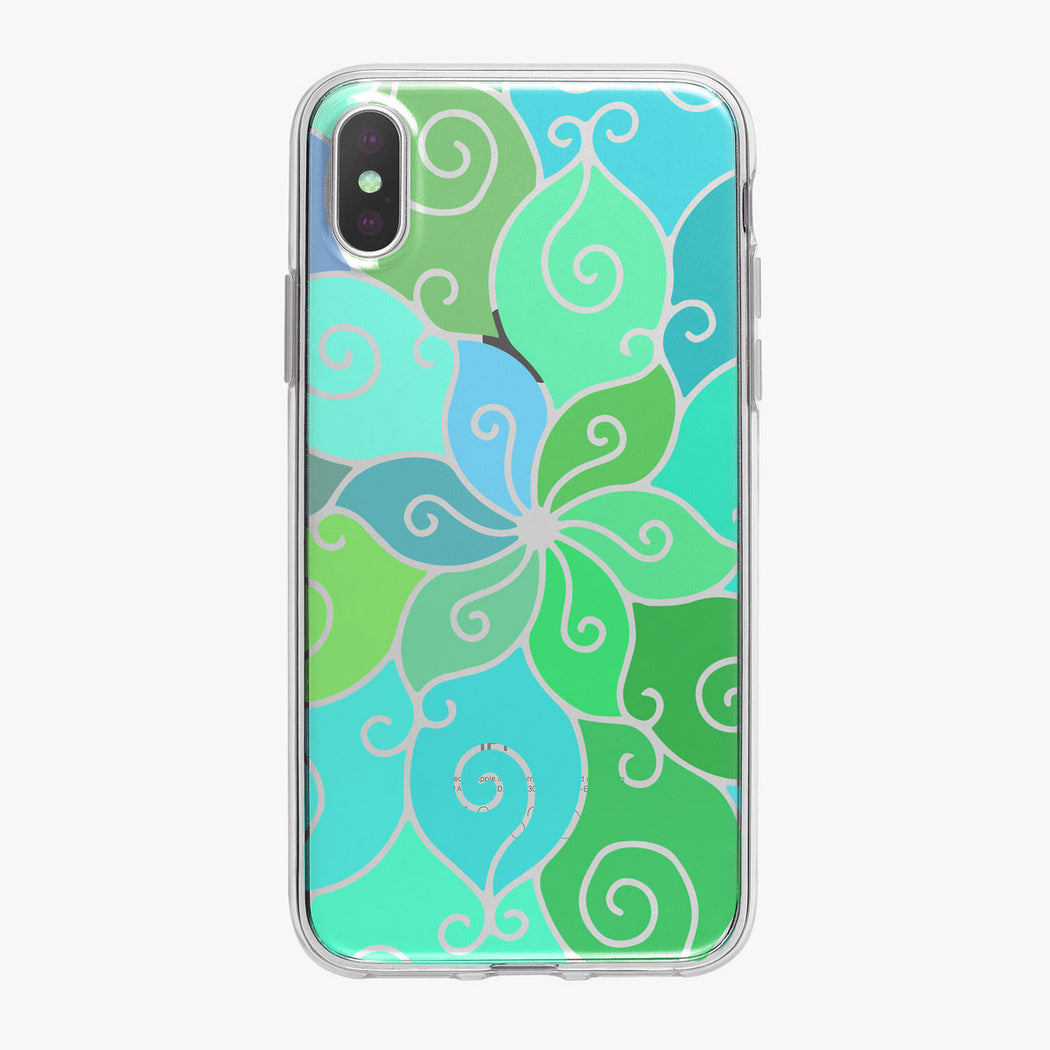 Swirly Blue and Green Mandala iPhone Case from Tiny Quail