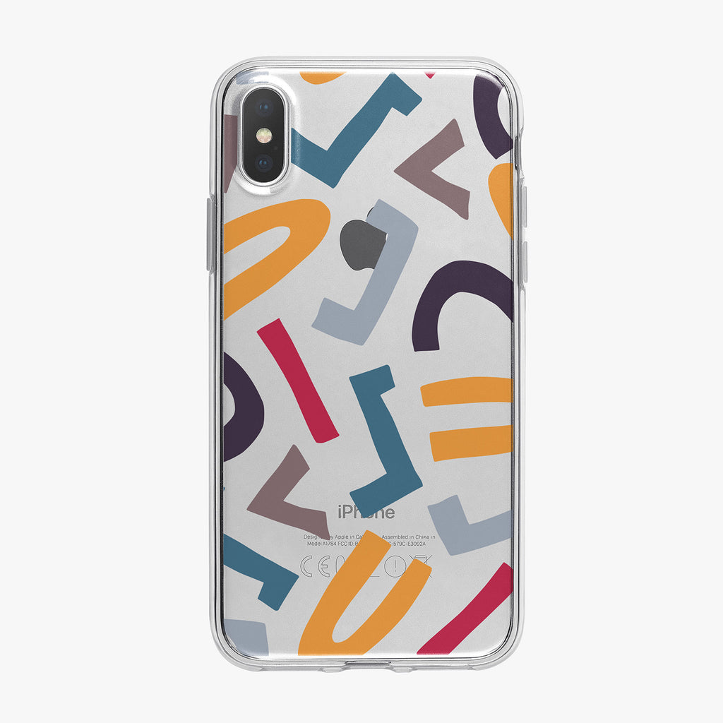 Abstract Shapes Pattern iPhone Case from Tiny Quail