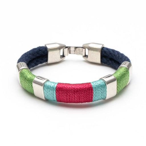 Newbury Bracelet For Women, Navy/Green/Turquoise/Pink/Silver, by Allison Cole Jewelry