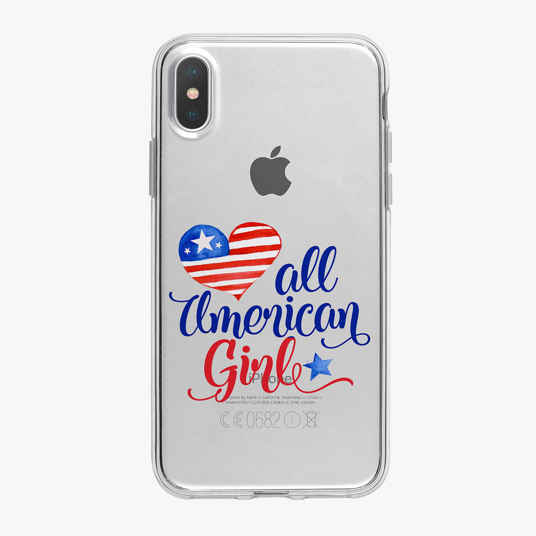 All American Girl Heart iPhone Case by Tiny Quail