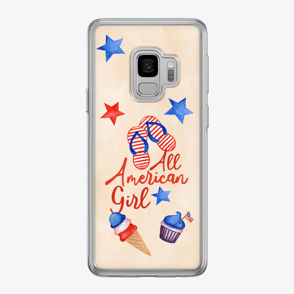 All American Girl Samsung Galaxy Phone Case by Tiny Quail