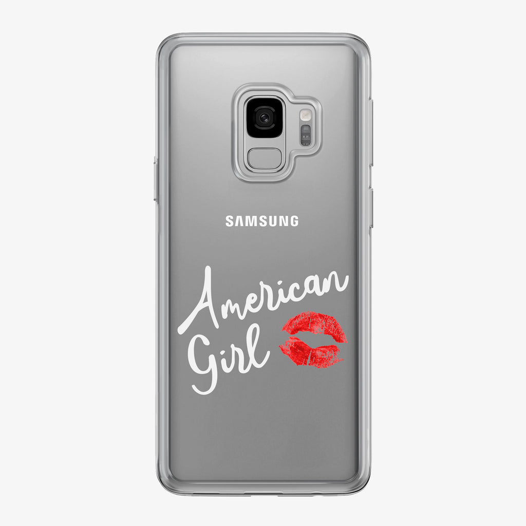 American Girl White Kiss Samsung Galaxy Phone Case by Tiny Quail